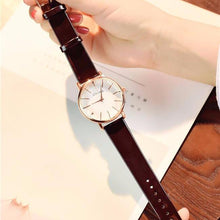 "Load image into Gallery viewer, ""Prime Time"" Ladies Watch Faux Leather Strap"