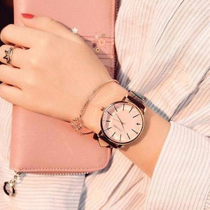 """Prime Time"" Ladies Watch Faux Leather Strap"
