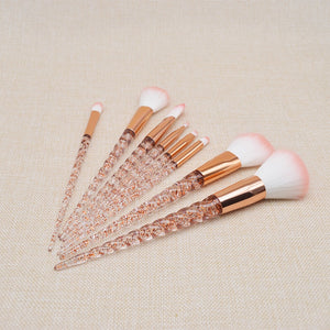 """Crystal Unicorn"" 8 Piece Makeup Brush Set"