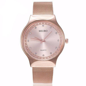 """Time To Shine"" Ladies Watch Rose Gold / Silver / Gold"