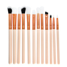 "Load image into Gallery viewer, ""Rose Gold"" 12 Piece Eye Makeup Brush Set"
