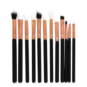 """Rose Gold"" 12 Piece Eye Makeup Brush Set"