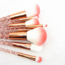 "Load image into Gallery viewer, ""Crystal Unicorn"" 8 Piece Makeup Brush Set"