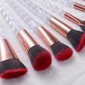 """Phoenix"" Crystal Unicorn 10 Piece Makeup Brush Set"