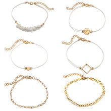 "Load image into Gallery viewer, ""Heart Of Gold"" 6 Piece Bracelet Set"