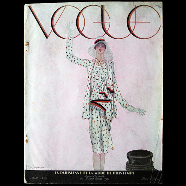 Vogue France (1er avril 1929), couverture de Georges Lepape