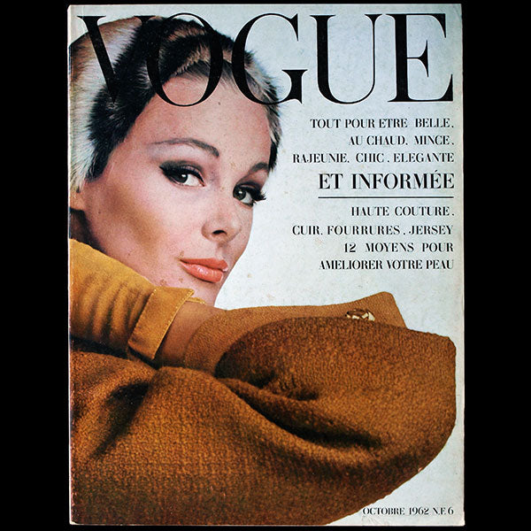 Vogue France (octobre 1962), couverture d'Irving Penn