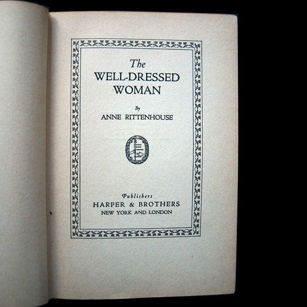 The well dressed woman including chapters by Jean Worth and Paul Poiret (1924)