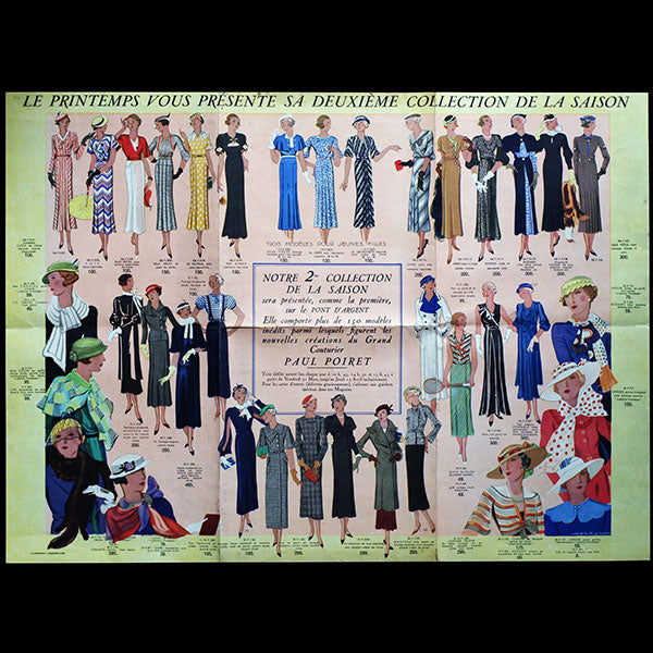 Au Printemps, 2ème collection de la saison Printemps-Eté 1933 par Paul Poiret