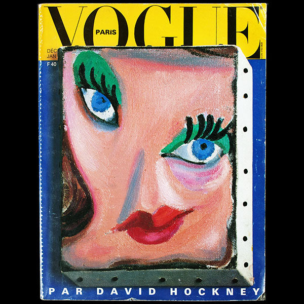 Vogue France par David Hockney (décembre 1985-janvier 1986)