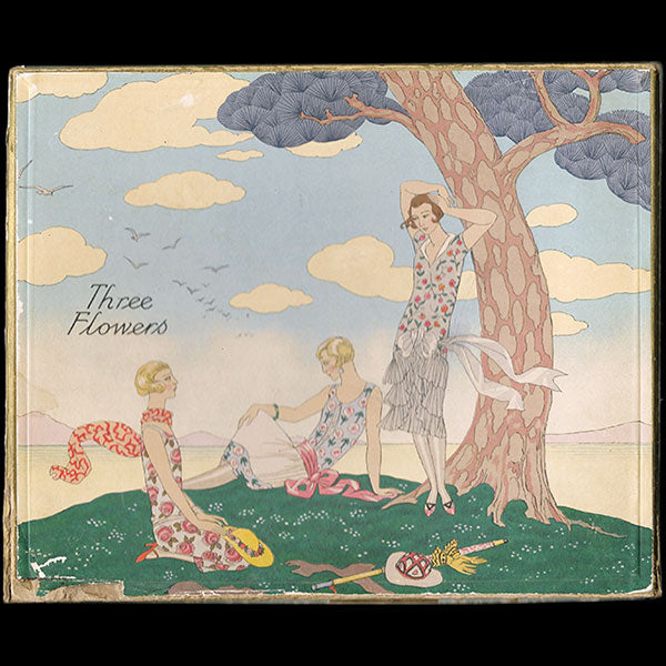 Richard Hudnut - Three Flowers, boîte dessinée par George Barbier (circa 1920s)