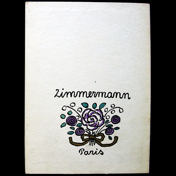 Zimmermann - Document publicitaire de la maison Zimmermann à Paris (1914)