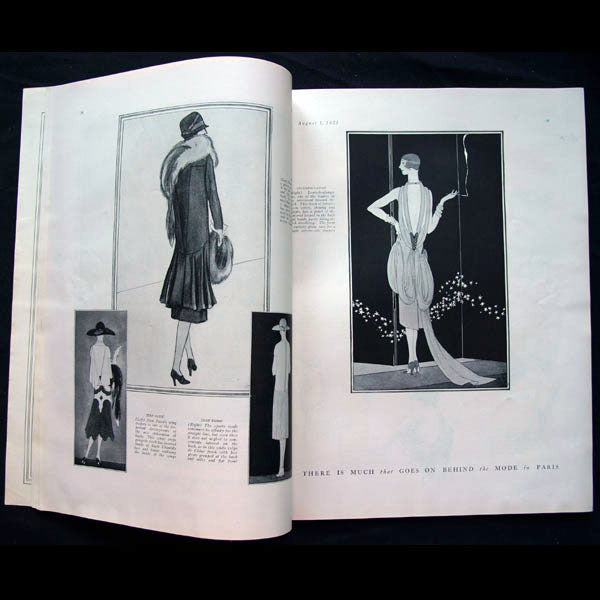 Vogue US (1er aout 1925), couverture de Pierre Brissaud