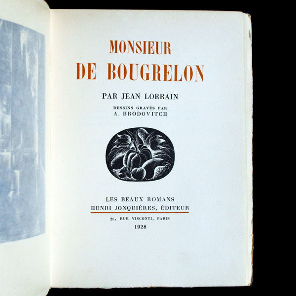 Brodovitch - Monsieur de Bougrelon (1928)