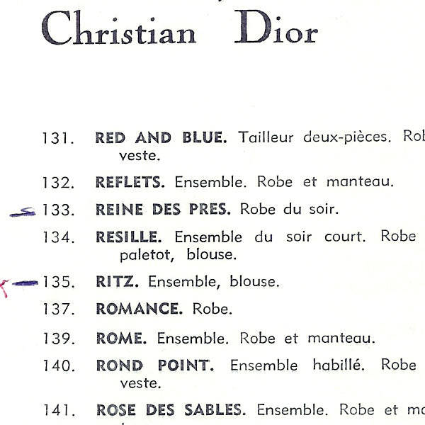 Christian Dior, collection Printemps-Eté 1962