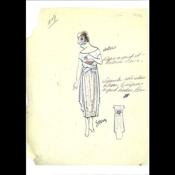 Dessins de l'atelier Paul Poiret - catalogue du Bunka College of Fashion (1986)