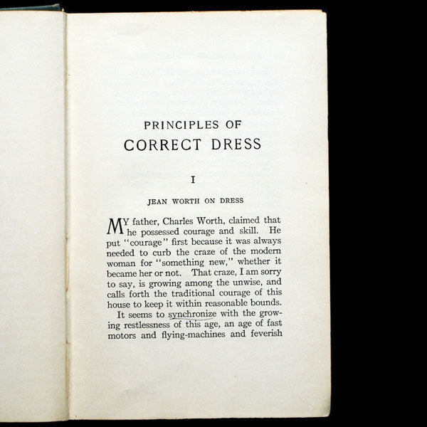 Principles of Correct Dress including chapters by Jean Worth and Paul Poiret (1914)