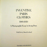 Vreeland - Inventive Paris Clothes 1909-1939, a Photographic Essay by Irving Penn, édition anglaise (1977)