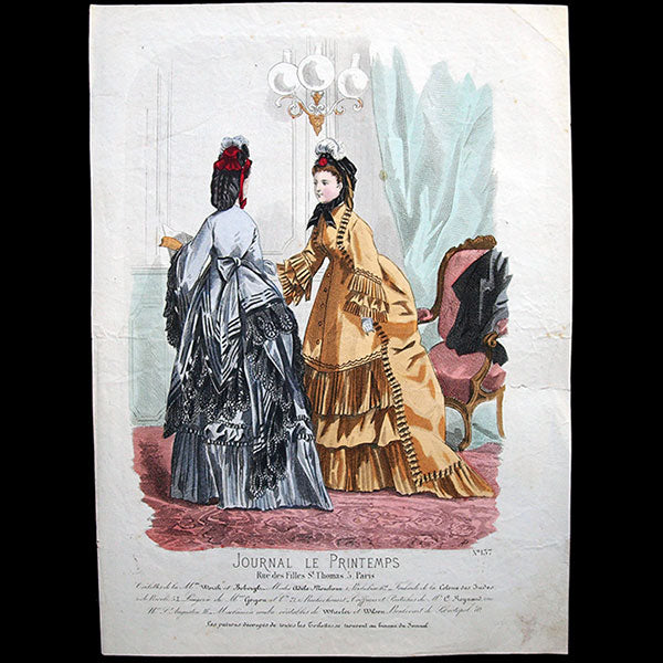 Worth & Bobergh - Le Journal du Printemps, gravure 137 (circa 1868)