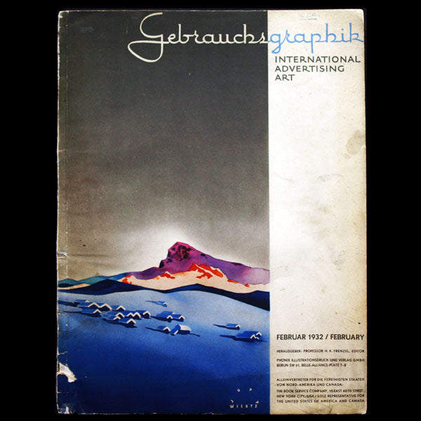 Gebrauchsgraphik, International Advertising Art, article sur Hoyningen-Huené (1932)