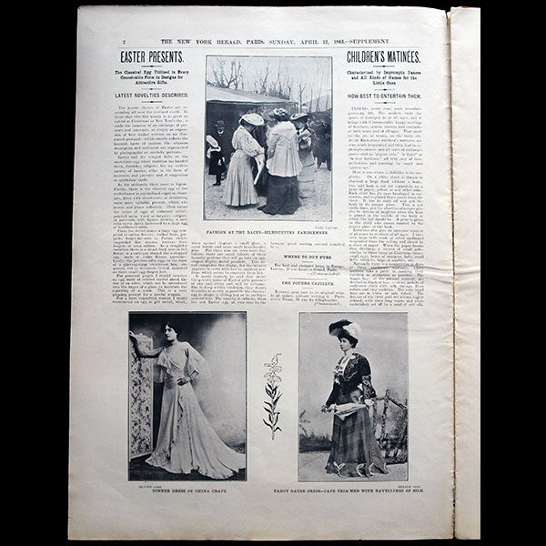 The New York Herald Fashion Supplement, April 12th, 1903