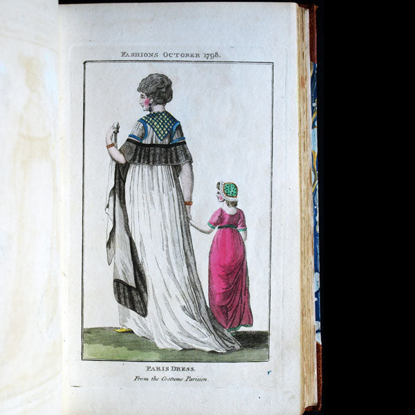 The Fashions of London and Paris - Réunion de 489 planches (1798-1809)