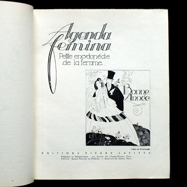Agenda Fémina 1922, illustrations de George Barbier, Brunelleschi, Benito, etc.