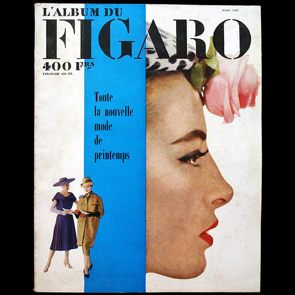 Album du Figaro, n°46, mars-avril 1954, couverture de Richard Dormer