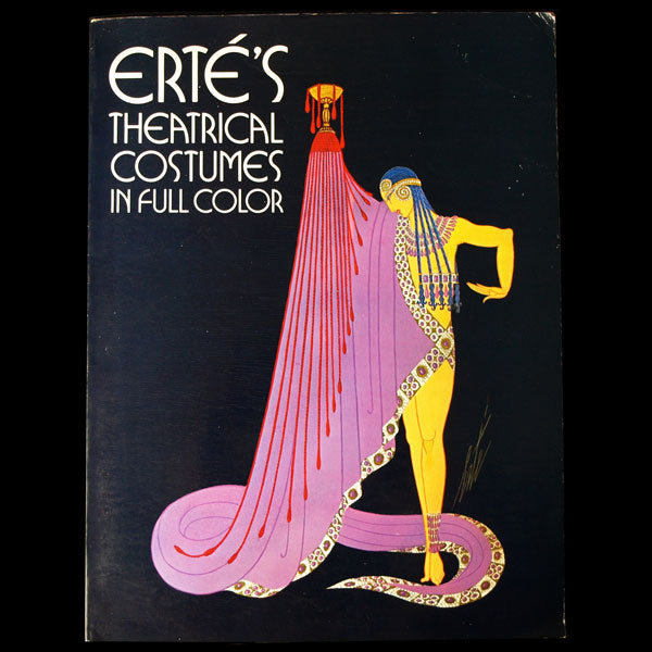 Erté's Theatrical Costumes in full color, exemplaire avec envoi d'Erté