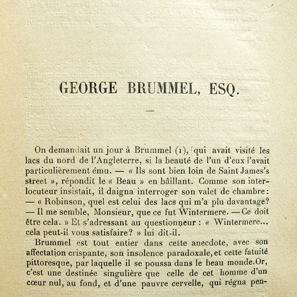 George Brummel Esq. (1906)