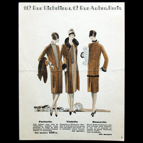 High Life Tailor, hiver 1927-1928