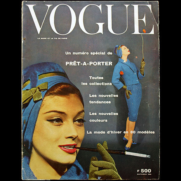 Vogue France (août 1958), couverture de Guy Bourdin