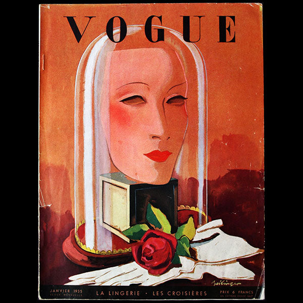 Vogue France (1er janvier 1935), couverture de Zeilinger