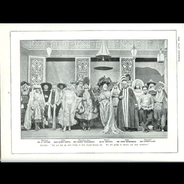 The Play Pictorial (octobre 1919), Afgar, costumes de Paul Poiret