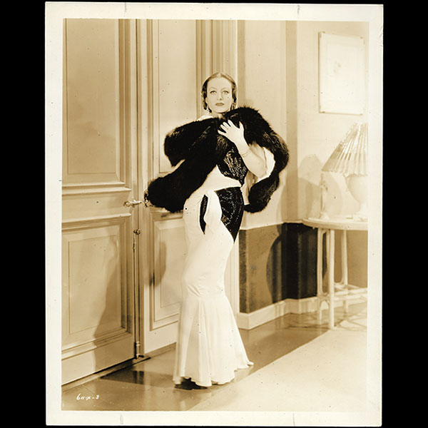 Joan Crawford, robe d'Adrian pour Letty Lynton (1932)