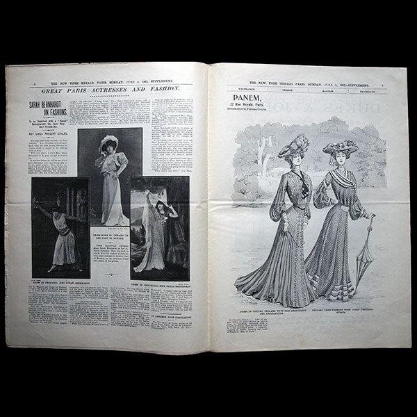 The New York Herald Fashion Supplement, June 8th 1902