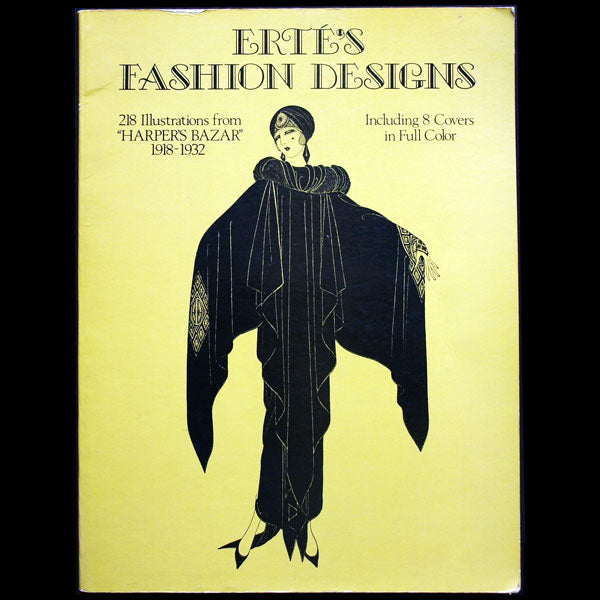 Erté fashion designs,  218 illustrations from Harper's Bazaar 1918-1932