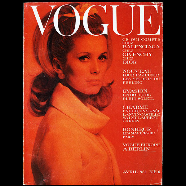 Vogue France (avril 1962), couverture d'Helmut Newton