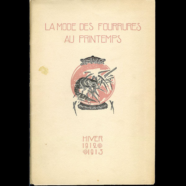 Printemps - La mode des fourrures au Printemps, hiver 1912-1913, illustrations de Drian (1912)