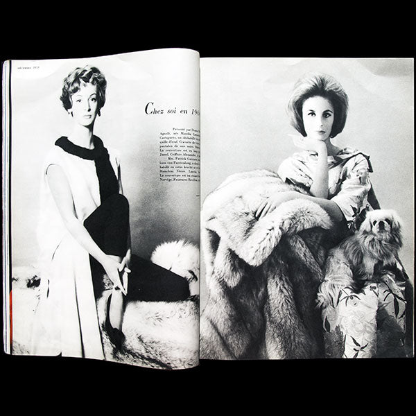 Vogue France (1er décembre 1959), couverture d'Irving Penn
