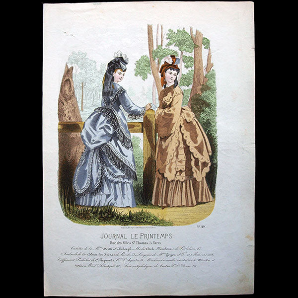 Worth & Bobergh - Le Journal du Printemps, gravure 140 (circa 1868)