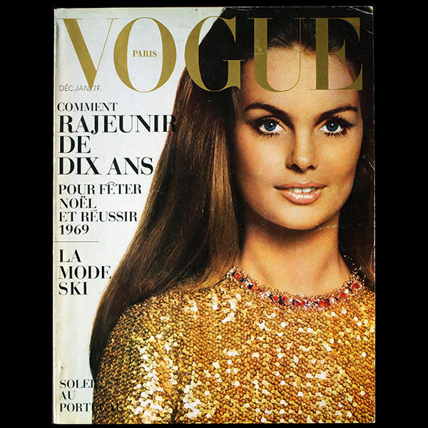 Vogue France (décembre 1968-janvier 1969), couverture de David Bailey
