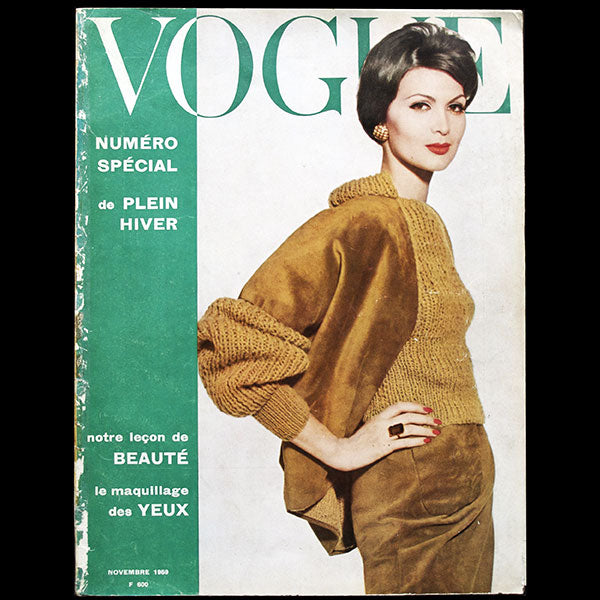 Vogue France (1er novembre 1959), couverture d'Irving Penn