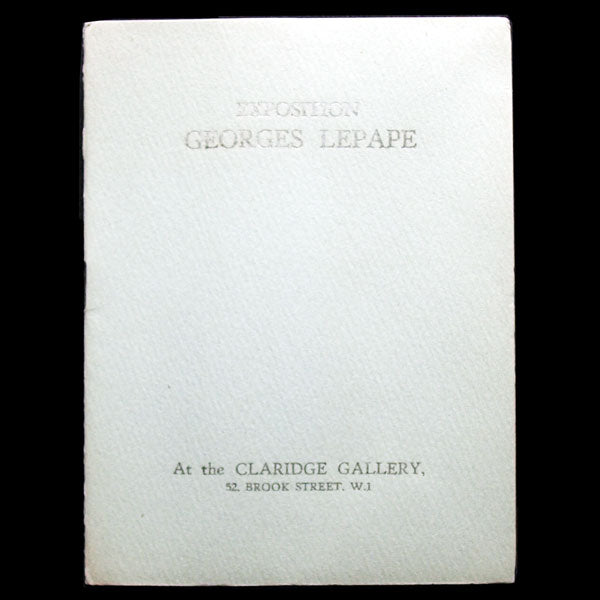 Lepape - Exposition Georges Lepape at the Claridge Gallery à Londres (1927)