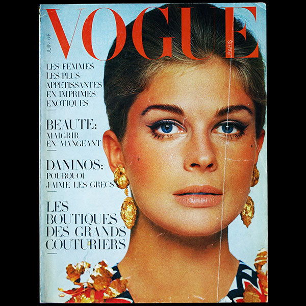 Vogue France (juin 1967), couverture de David Bailey