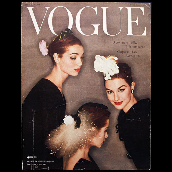 Vogue France (1er novembre 1954), couverture d'Henry Clarke