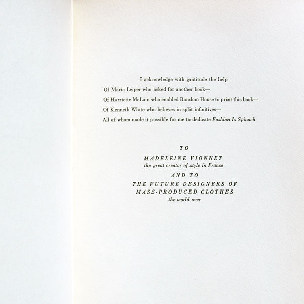 Fashion is Spinach, par Elizabeth Hawes, 1ère édition, mise en page de Brodovitch (1938)