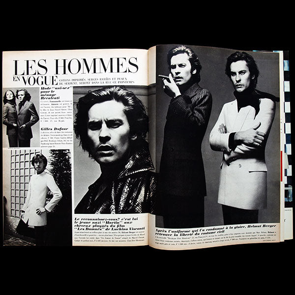 Vogue France (avril 1970), couverture de Jean-Loup Sieff