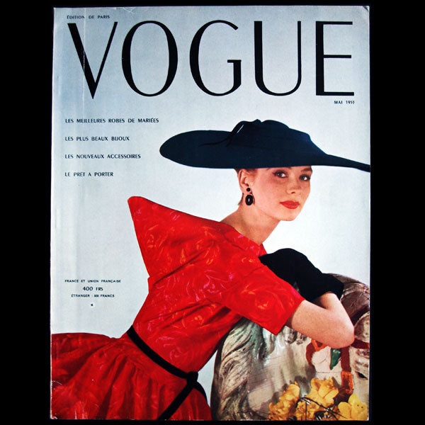 Vogue France (1er mai 1953), couverture d'Henry Clarke