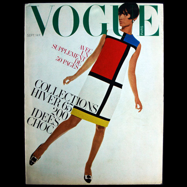 Vogue France (1er septembre 1965), couverture de David Bailey